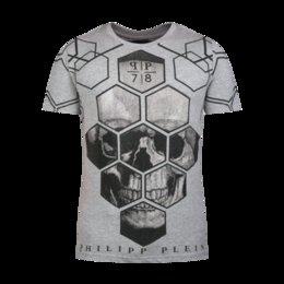Wholesale 2016 Mens T Shirt Philipp Uomo Cotone Bianco Gray New with tags M L XL XXL