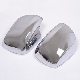 Wholesale Chrome Side Rearview Mirror Cover Trim Car Mirrors Trims Fit For Toyota Land cruiser FJ200 Car trim
