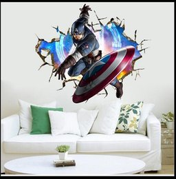 Wholesale 3D Avengers kindergarten children room background wall decoration stickers large wall stickers creative personality room wallpaper