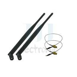 Wholesale dBi RP SMA Dual Band WiFi Antennas U fl Cables for Mod Kit Asus D Link Router