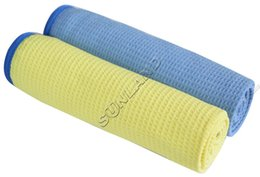 Wholesale SINLAND cm X40 cm Microfiber Waffle Weave Car Cleaning washes cloths Detailing Drying Towels