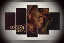 Wholesale 5 Panel No Framed Printed Bull basketball michael Painting on canvas room decoration print poster picture canvas magic the gathering