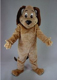 Wholesale Dog Brown Performance Plush Mascot Costume Adult Size Fancy Dress Suit