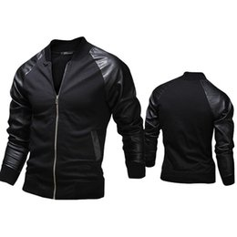 Foreign trade 2015 new winter men's jacket raglan sleeve stitching Korean Slim men's jacket coat M