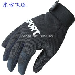 Wholesale-Winter outdoor warm women and men gloves Elastic rib fabric gloves for fitness 1pair lots GW13