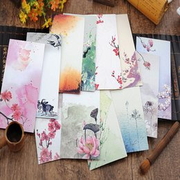 Wholesale 12 Style Chinoiserie Flower Envelope Elegant Storage Envelope For Postcards Blessing Cards Gift Greeting Card color bag