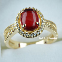 Size 7-10 Jewelry Bridal Band 18K Gold Filled Womens Anniversary Rings R286