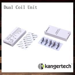 New Kanger Dual Coil Unit For Kangertech Aerotank Aerotank Mega Aerotank Mini Evod Glass Protank3 Mini EMOW Cartomizer 100% Original