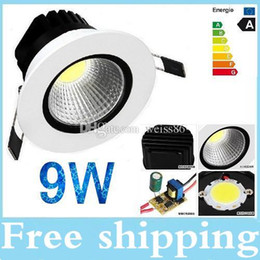 Chinese Ceiling Light Dimmable 9W Cob led light Warm Cool white Spot light lamp With Driver