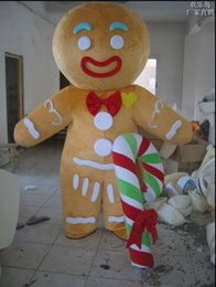 Wholesale 100 real product pictures Hot sales gingerbread man Mascot Costume Adult Size EMS
