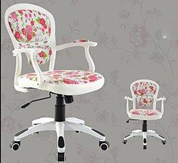 European Style Computer Chair Office Swivel Chairs Hemp Household White Student Desk Chair