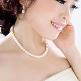 Elegant Lady String Glass Pearl Necklace Women Bead Necklace Beaded Necklaces Pendants Necklaces Imitation pearl Short Chain Chocker Jewelry