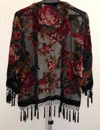 Roses Velvet jacket-black