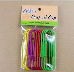 Wholesale 28 mm big Paper clips colors in a opp bags bookmark cheap mix color