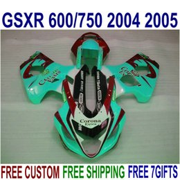 Wholesale New aftermarket parts for SUZUKI GSX R600 GSX R750 K4 fairing body kit GSX R600 red blue Corona fairings set UR16