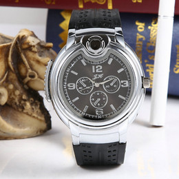 DHL 2015 Military Lighter Watch Novelty Man Quartz watches Sports Refillable Gas Cigarette Cigar Men's Watches Luxury Brand Gift Retail Box
