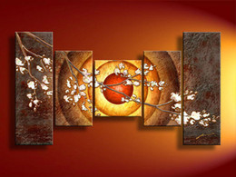 large oil paintings canvas pictures home decoration Modern abstract Oil Painting wall art wholesale 5pcs set mixorde Framed F 25