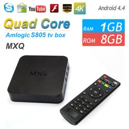 Wholesale MXQ Smart TV BOX KODI Fully Loaded Add ons Amlogic S805 Quad Core Android Kitkat Latest Streaming Video