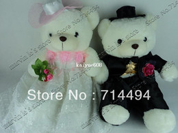 Wholesale cm a pair of high quality wedding teddy bear plush toys real picture teddy toy Christmas birthday wedding gifts