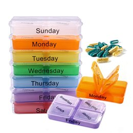 Wholesale Health Care Pill Cases Splitters Medicine Weekly Storage Pill Day Tablet Sorter Box Container Case Organizer F OS