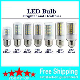 SMD 5730 E27 LED Lamp 7W 12W 15W 18W 20W 25W 30W 5730SMD LED Lights Corn Led Bulb chandelier lighting