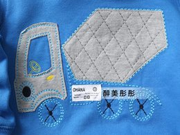 Wholesale New boy baby Mixer Truck Hoodies Sweatshirts Coats hooded sportswear jackets
