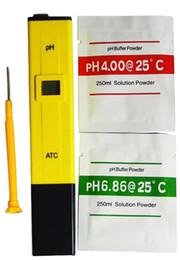 Wholesale 100pcs ship by FEDEX DHL UPS TNT Digital Pocket PH Meter Tester Pen LCD for Aquarium Pool Water Laboratory