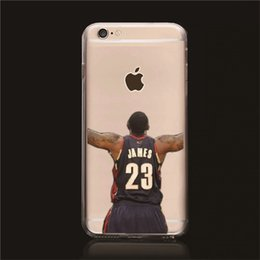 Wholesale Ultra Thin TPU Clear Soft Case Iphone s iPhone Plus inch Cell Phone Basketball Clear Protection Shell