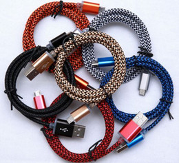 High Quality 1M 3ft Braided Copper Micro USB Data Sync Charger Cable Cord for Cell Phone