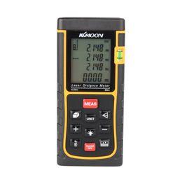 Wholesale RZE m ft Digital Laser Distance Meter Range Finder Measure Distance Area Volume with Bubble Level Measure Measurer H11359