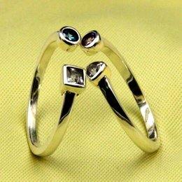 Simple series 925 pure silver craft smooth opening ring the ring of the couple of the students
