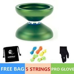 Wholesale Professional Magic YOYO Ball N12 SHARK HONOR Aluminum Alloy Kids Toys for Green color comes with golves