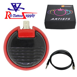 Wholesale Roundness Design Alloy Foot Switch Pedal Tattoo Machine Gun Power Supply Tattoo FootSwitch With Five Color in Stock