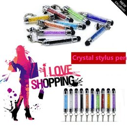 Best Crystal stylus pen for iPhone5 iphone4 S4 Z10 S3 ipad for Capacitive screen Free shipping