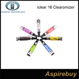 Authentic Innokin IClear 16 Clearomizer with Dual Coil Electronic Cigarette Ecig Atomizer Coil head Iclear16 Replaceable Head Coils 2.1ohm