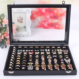 Wholesale 2014 Hot sale Slots Jewelry Display Rings Organizer Show Case Holder Box Princess European Cosmetic casket
