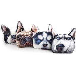 Wholesale D Dog Cat Face Car Headrest Covers Neck Auto Safety Pillowcase Designs Pillow Stuffed Plush Car Holder Cushion