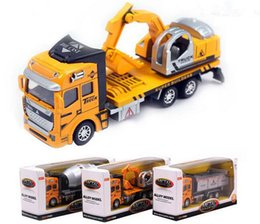Wholesale Engineering Alloy Vehicle Model Toys Digger Simulation Trucks Dump Truck concrete mixer TruckModel Toys Diecast Cars Vehicle