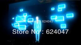 Gros-Livraison gratuite 0,66 M * Les frais de 1.524M film holographique Projecteur arrière / feuille / écran pour la publicité, la publicité de Noël, exposition à partir de les frais de publicité fabricateur