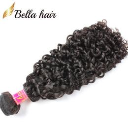"Brazilian Kinky Curly Hair Weaves Virgin Human Hair Extensions Double Weft 12""-30"" Full Hair Weaves Wefts Bellahair 7A"