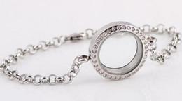 Wholesale New Arrive Fashion DIY Floating Charm Locket Bracelet mm Crystal Alloy Circle Living Memory Locker Bracelet Sale