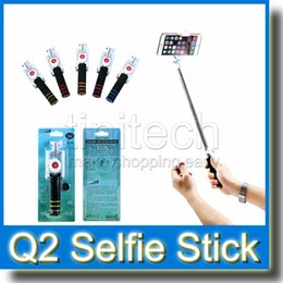 2017 contrôleur bluetooth pour monopode Selfie Monopod Q2 extensible Selfie Stick Handy Monopied w / Bluetooth Camera Shutter Remote Controller New Coming contrôleur bluetooth pour monopode promotion