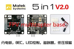 Wholesale Matek PDB Power Distribution Board BEC V V A Signal Loss Alarm Quadcopter Finder with S Lipo Low Voltage Buzzer order lt no trac