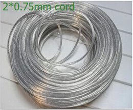 (5m lot) Lighting lamps transparent electrical wire pendant light power cord 2*0.75mm power cord meters copper core order<$18no track