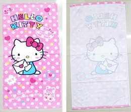 Wholesale 2015 new Foreign trade new hello Kitty bath towel children s beach towels freeshipping