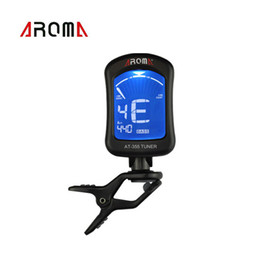 Wholesale Portable Clip on Guitar Tuner Electric Tuner Universal for Chromatic Bass Violin Viola Ukulele Aroma AT New Arrival I691
