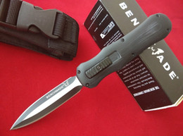 Wholesale BM Benchmade Infidel Pocket knife D2 steel double edge Plain tactical survival gear knives with retail box