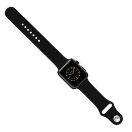 42mm Goophone Watch 3 Aluminum Alloy Smart Watch Sports Watch Band Red Crown Wireless Charging MTK2502 Touch Screen for iPhone X 8 Plus 7 S9