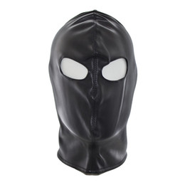 w1021 Sexy erotic unique toys mask couples special fetish adult black leather hoods headgear sex toys