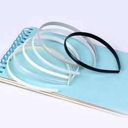 10mm arc plastic headbands without teeth Diy accessories 100pcs-black white